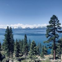 Lake Tahoe seen from hillside above Incline Village.