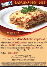 IVCBA, AAUW Lasagna Fundraiser to support young women's education by IVCBA's Madison Schultz